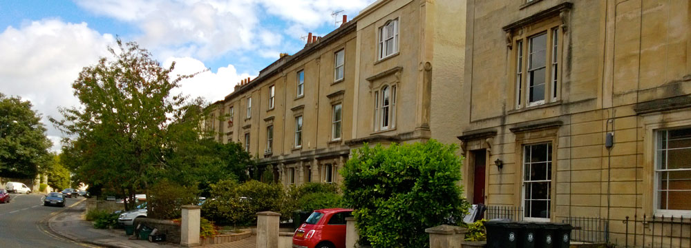Residential lettings in Cotham are often in large Georgian buildings